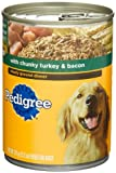 Pedigree Meaty Ground Dinner with Chunky Turkey and Bacon Food for Dogs, 13.2-Ounce Cans (Pack of 24), My Pet Supplies