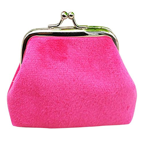 (Clearance Coin Purse,Womens Cute Corduroy Small Wallet Mini Card Holder Clutch Handbag (9cmX7cm, Hot)