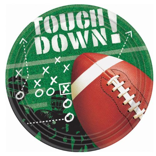 Football Frenzy 7 Dessert Plates 50ct by -