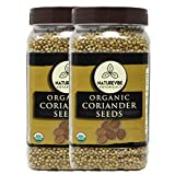 Naturevibe Botanicals Organic Coriander Seeds (2lbs) (2 Packs of 1lb Each), Raw | Gluten-Free & Non-GMO | Adds Flavor and Taste | Better Digestion