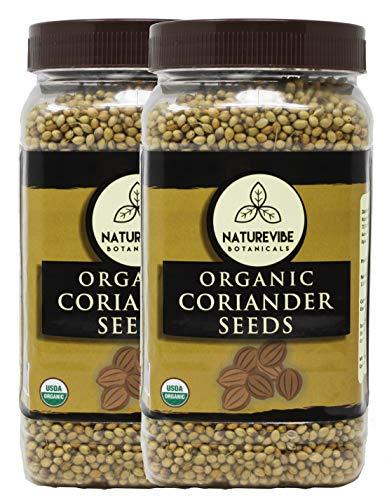 Organic Coriander Seeds (2lbs) (2 Pack of 1lbs Each) by Naturevibe Botanicals | Raw, Gluten-Free & Non-GMO | Adds Flavor and Taste