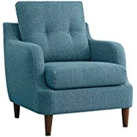 Homelegance 1219BU-1 Button Tufted Accent Chair, Blue Fabric