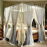 QIXIAOTING High-End Drop Top Top Encrypted Mosquito Net, Big Red Double Layer Anti-Mosquito Thickening 901 Blue Gray 200220 Bed
