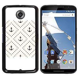 TopCaseStore / la caja del caucho duro de la cubierta de protección de la piel - Checkered Tile Pattern Pastel - Motorola NEXUS 6 / X / Moto X Pro