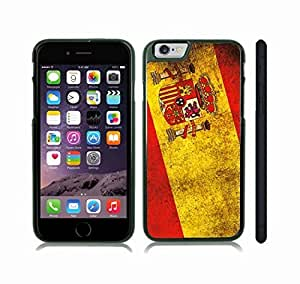 iStar Cases? iPhone 6 Plus Case with Spain Flag Vintage Grunge Look Design , Snap-on Cover, Hard Carrying Case (Black)