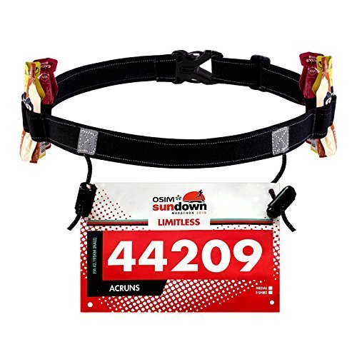 WEIJI Race Number Belt (6 Gel Loops) for...