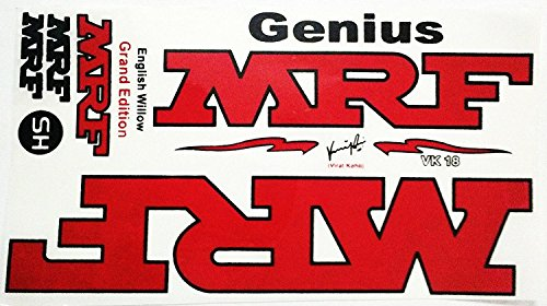 MRF Genius Cricket Bat Sticker Virat Kohli Grand Edition by MRF