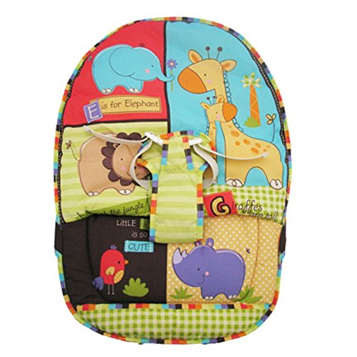 Replacement Seat Pad w/straps LUV U Zoo, How Now Brown Cow &