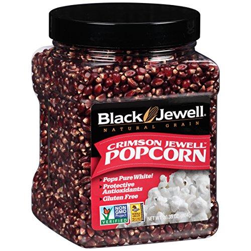 Black Jewell Premium Popcorn, Crimson Jewell Jar, 28.35-Ounce (Pack of 6) (Jewel Black Popcorn)