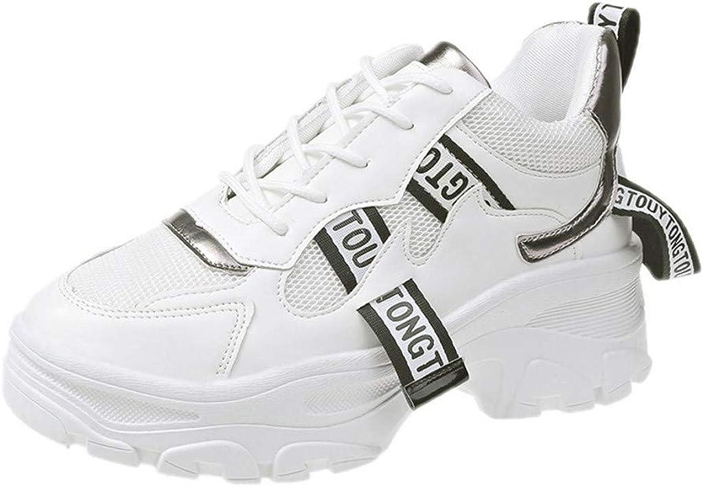 TEELONG - Zapatillas de Deporte para Mujer, de caña Alta, para Aumentar la Altura, para Correr, Caminar, Bailar, Deportes, Gimnasio, Entrenadores: Amazon.es: Zapatos y complementos