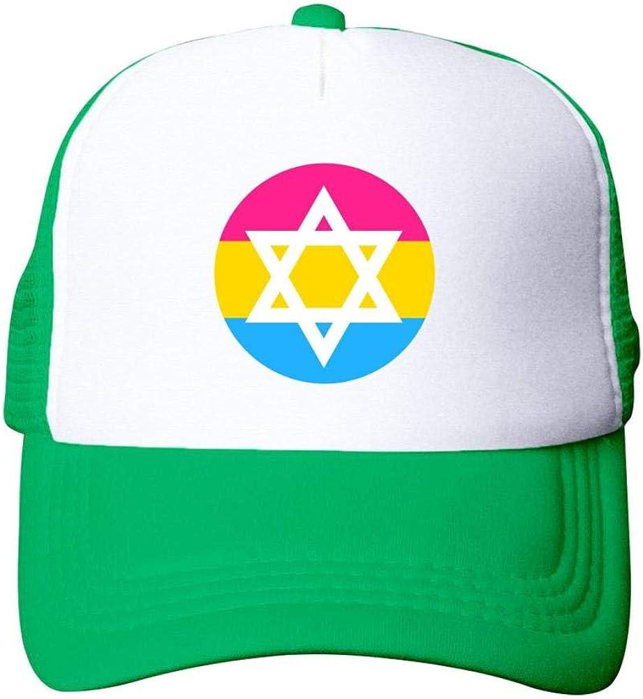 Casual Summer Baseball Cap Adjustable Adult Net Cap Pan Pride Star of David:WUROIMK Sun Protection