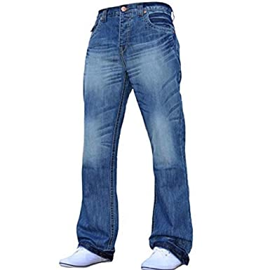 Smith /& Jones Men/'s Wide Leg Flare Bootcut Jeans King Big All Waist Sizes