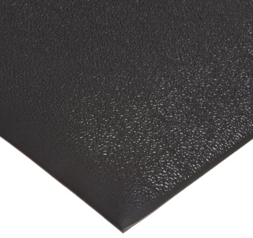 "NoTrax T41 Standard PVC Safety/Anti-Fatigue Comfort Rest Pebble Foam, For Dry Areas, 2' Width x 3' Length x 3/8"" Thickness, Coal"