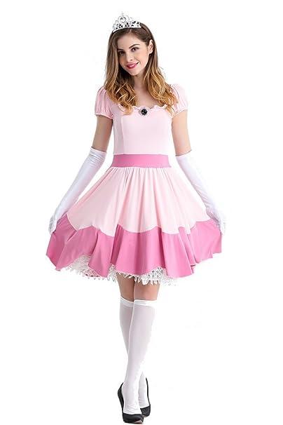 85c0d456854e XFentech Donna Vestito Dirndl Oktoberfest Carnevale Birra Halloween Costumi  Cameriera Principessa Abiti  Amazon.it  Abbigliamento