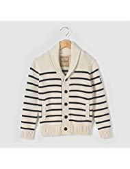Abcd'r Boys Striped Shawl Collar Cardigan, 3-12 Years Beige 12 Years - 59 In.