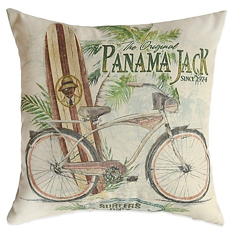 Panama Jack Surfers Only Outdoor Throw Pillows (Set of 2)