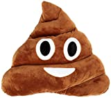 Toys : Qs 11x12 Poop Poo Emoji Emoticon Cushion Pillow Brown Stuffed USA Seller (Poo Face)