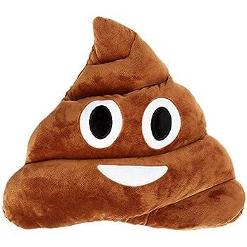 Qs 11x12 Poop Poo Emoji Emoticon Cushion Pillow Brown Stuffed USA Seller (Poo Face)