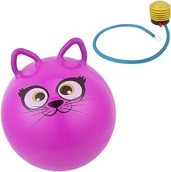 Yangmg 18 Adorable Cat Design PVC Jumpping Bounce Hop Pelota ...