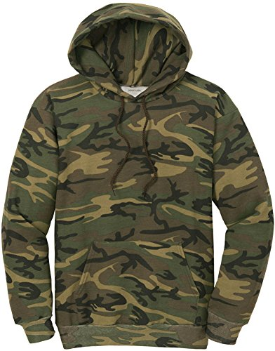 Joe's USA Camoflauge Hooded Sweatshirt,X-Large Military Camo