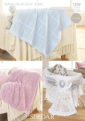 Sirdar Snuggly DK Baby Shawl Blanket Crochet Pattern 1299: Amazon.co ...