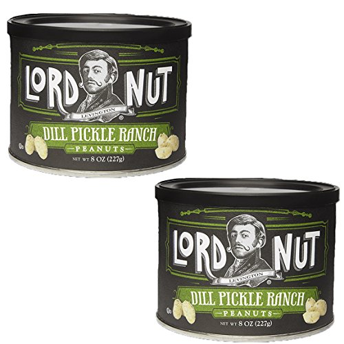 UPC 612592007895, Lord Nuts Levington Dill Pickle Ranch Peanuts Certified Kosher OU Dairy 8 oz - 2 pack