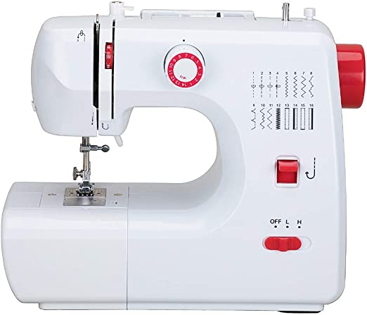 Máquina de coser portátil con pedal de 2 velocidades 16 puntos de ...