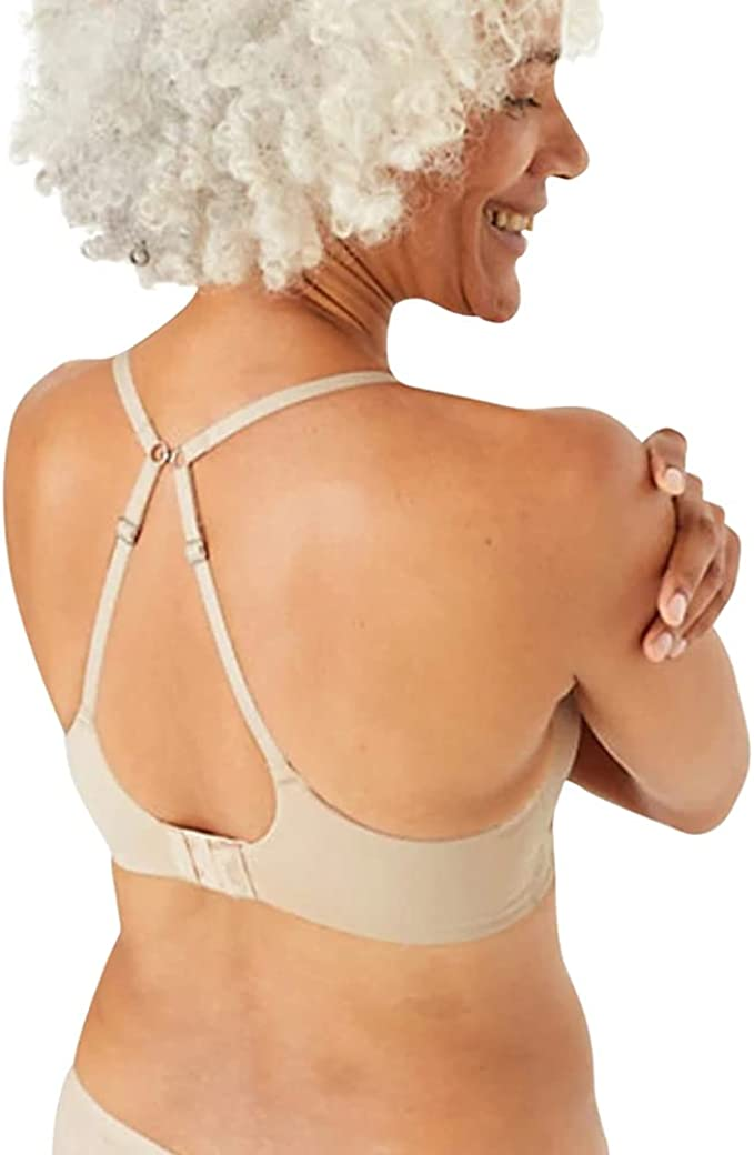 Marks /& Spencer T337158 M/&S Body™ Smoothing Longline Beige Plunge Bra A-E £12