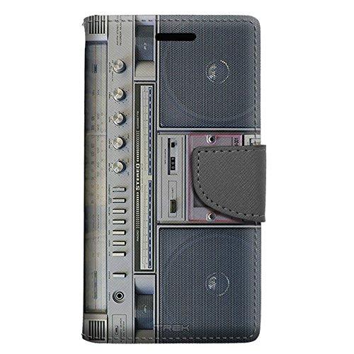 Motorola Droid Turbo 2 Wallet Case - Retro Cassette Tape Boombox Case