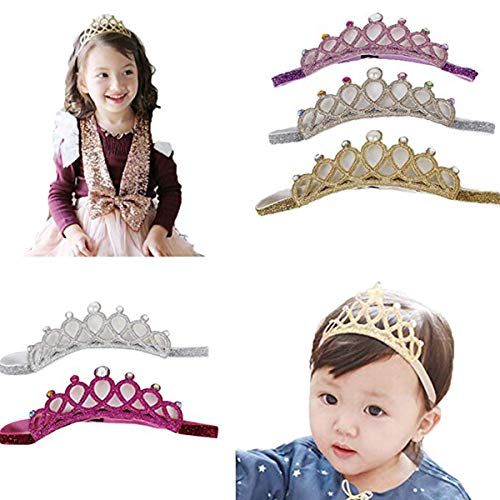 Baby Girl Nylon Headbands Newborn Infant Toddler Hairbands and Bows Child Hair Accessories (Multicolor-DN155)