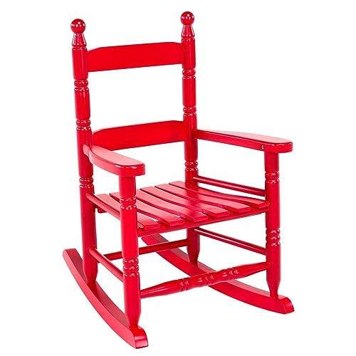 Vintage Indoor/Patio/Porch Solid Wooden Child Nursing Rocker Rocking Chair Red