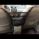 Fontic 3-Layer Car Mesh Organizer, Seat Back Net Bag, Barrier of Backseat Pets Children Kids, Cargo Tissue Purse Holder, Driver Storage Netting Pouch. (3 optional styles)