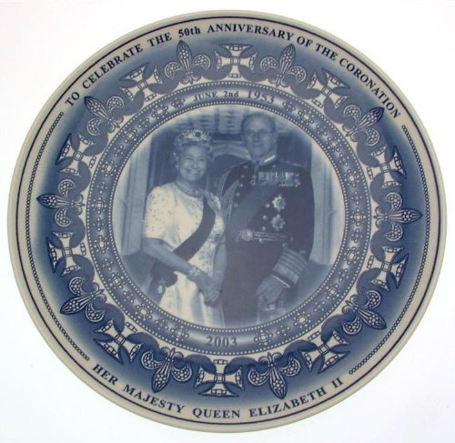 Wedgwood Daily Mail 50 year collector plate coronation of HM QE II cltms51