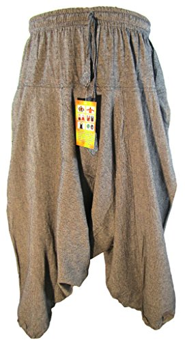 Little-Kathmandu-Mens-Cotton-Hemp-Harem-Aladdin-Genie-Wide-Leg-Ninja-Trousers
