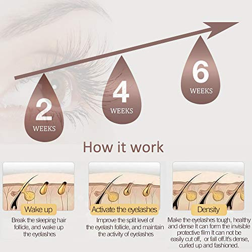 Eyelash Growth Serum - Natural Lash & Eyebrow Enhancer - for Extension, Thickness, Strength - 5ml