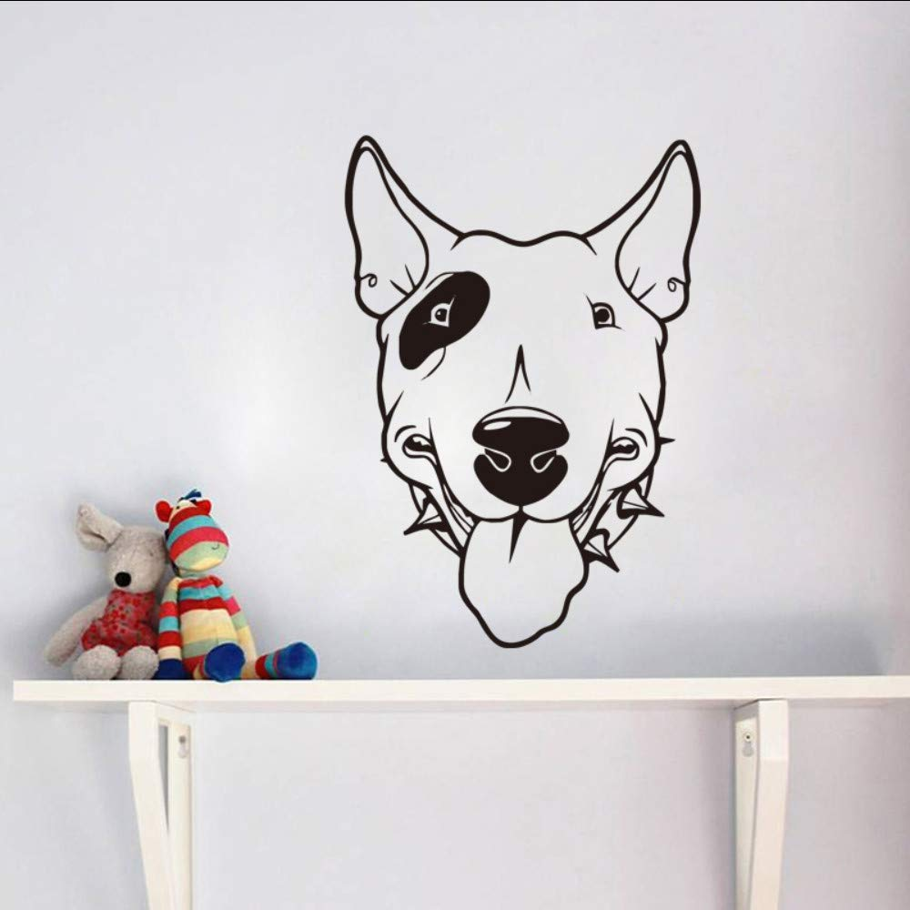 Pitbull Dog vinilo tatuajes de pared cabeza de perro lindo papel ...