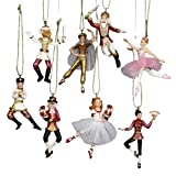 "Kurt Adler 2.75"" Polyresin Nutcracker Suite Miniature Ornament Set, 8 Pieces"