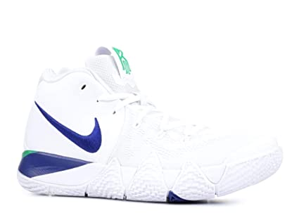 new concept d3103 fc015 Image Unavailable. Image not available for. Color  Nike Men s Kyrie 4  Basketball Shoes, US 10.5, White Deep Royal Blue