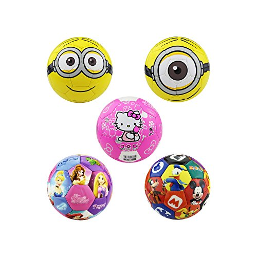 (PhysCool Disney Minions PVC Soccer Ball for Kids Official Size 2 (Hello Kitty/Pink))