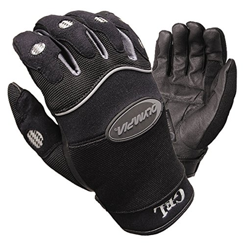 Olympia 710 Gel Reflector Motorcycle Sport Gloves (Black/Grey, Small)