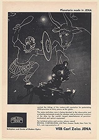 1964 Veb Carl Zeiss Jena Planetarium Projector Orion Taurus