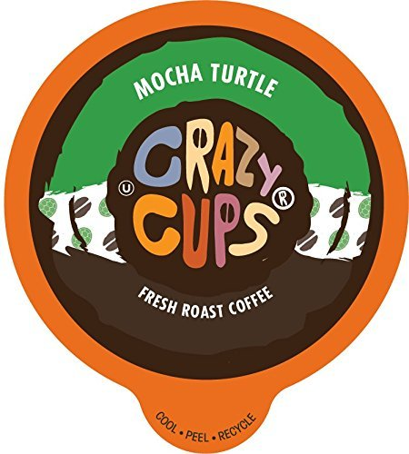 Crazy Cups Flavored Coffee, for the Keurig K Cups 2.0 Brewer, Mocha Turtle, 22 Count ()