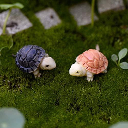 SeedWorld Figurines & Miniatures - 2pcs/Pair Hot Mini Rabbit/Hedgehog /Tortoise Ornament Miniature Figurine Plant Pot Fairy Garden Decor Home Decoration 2pcs 1 PCs