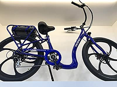 Pedego Boomerang Plus Neon Blue with Black Ballon Package 48V 15Ah
