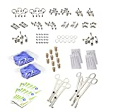 LionGothic 174pc.Professional Piercing Kit Surgical Steel Jewelry ,Piercing Corks ,needles ,Gloves ,Disposable Tools & Alcohol Pads