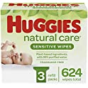3-Packs Huggies Natural Care Baby Wipes (624 Wipes Total)
