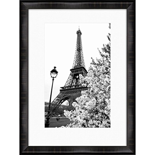 40'' Black and White Eiffel Tower and Tree Print Decorative Wall Art by Diva At Home
