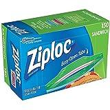 Ziploc Sandwich Bags, Pack of 150, 6.5 x 5.875-Inch