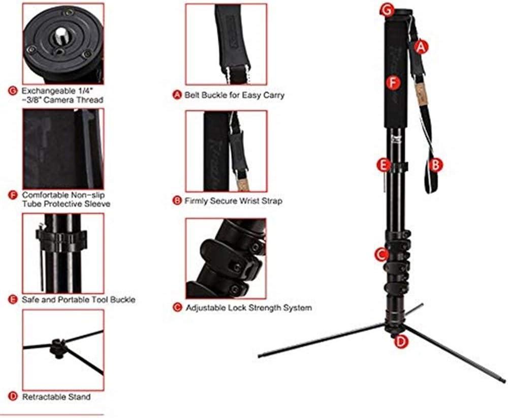 Traveler Tripod in Black with Ball Head Multi-Function BracketMaximum Load 15kg for Digital Cameras//Digital SLR Cameras//Camcorders Travel Tripod EPCMTTC Camera Tripod Camera Tripod