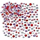 Baker Ross Mini Self Adhesive Acrylic Gems (Pack of 200) Multicoloured Embellishments for Kids Arts and Crafts